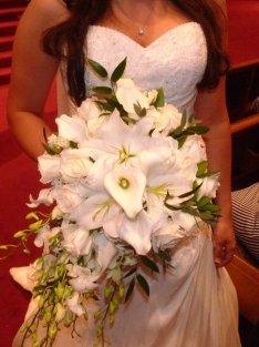 White Bridal Bouquet Buffalo NY