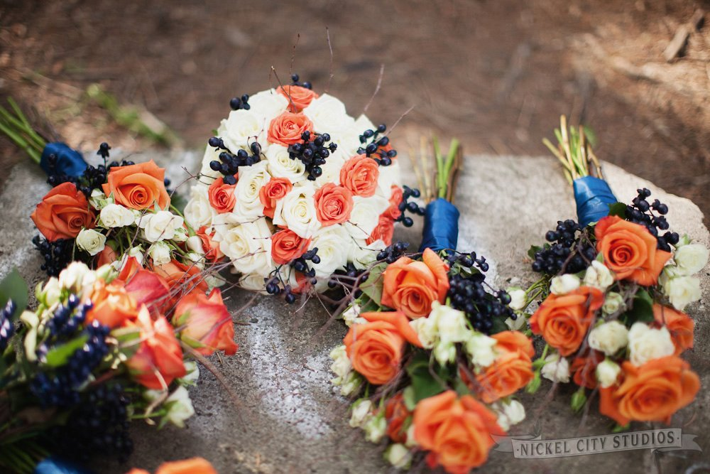 Navy Blue Wedding Flowers
