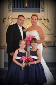 Pink and Navy Blue Wedding Flowers Buffalo