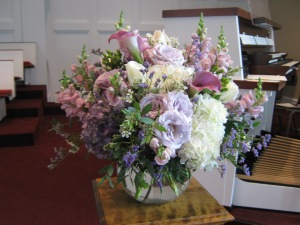 Wedding Ceremony Flowers Clarence First Presbyterian Church