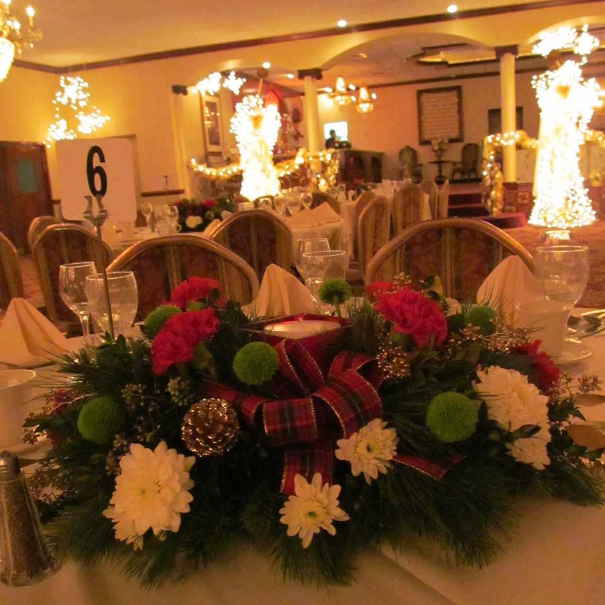 Christmas Party Centerpieces At Salvatore S Italian Gardens Buffalo Ny Buffalo Wedding