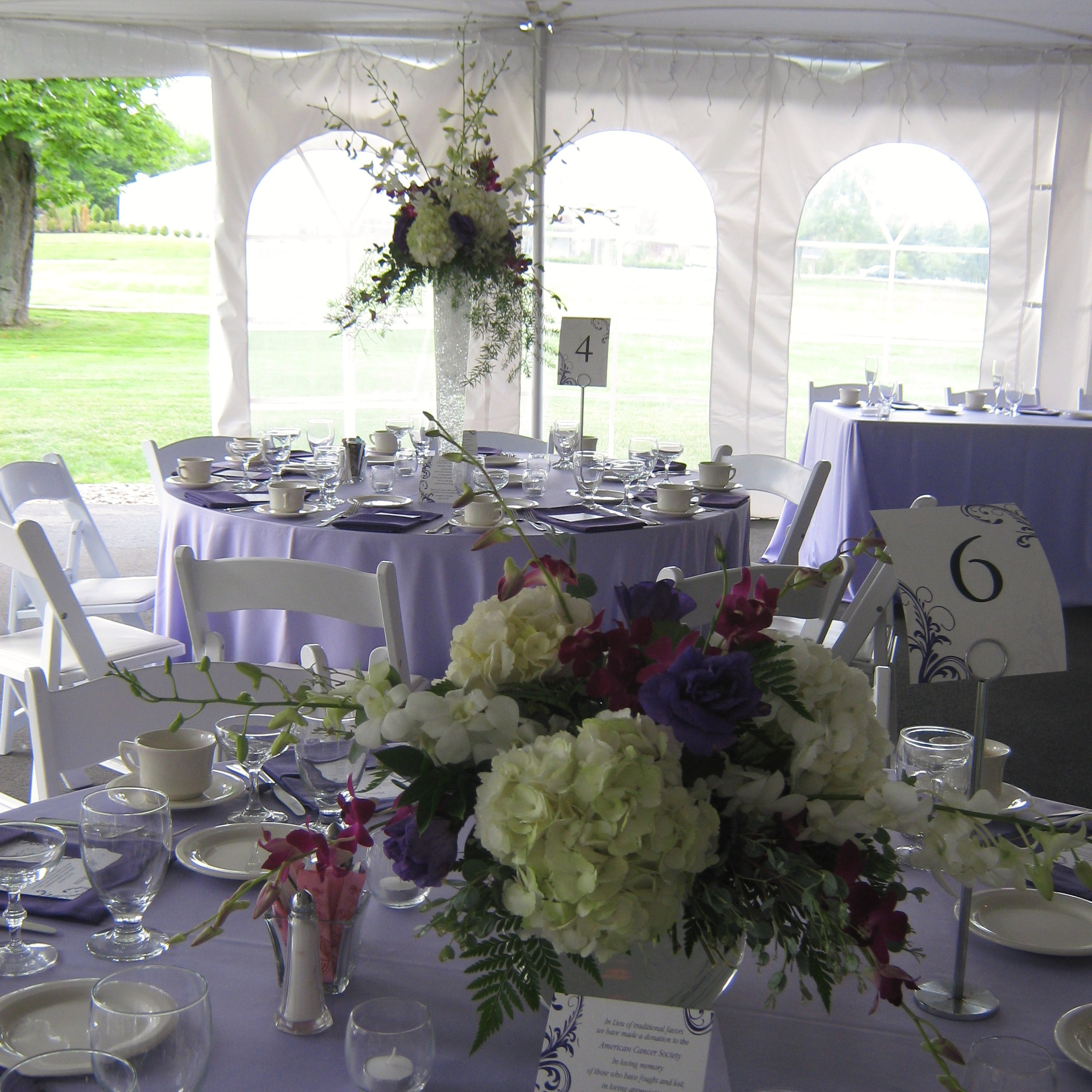 Weddings And Blooms: Purple And Lavender Wedding Flowers For A Wedding At