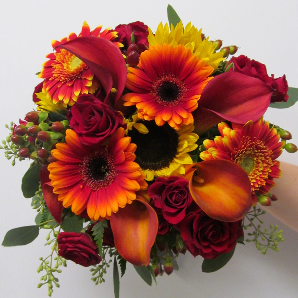Fall wedding flowers at brookfield country club in