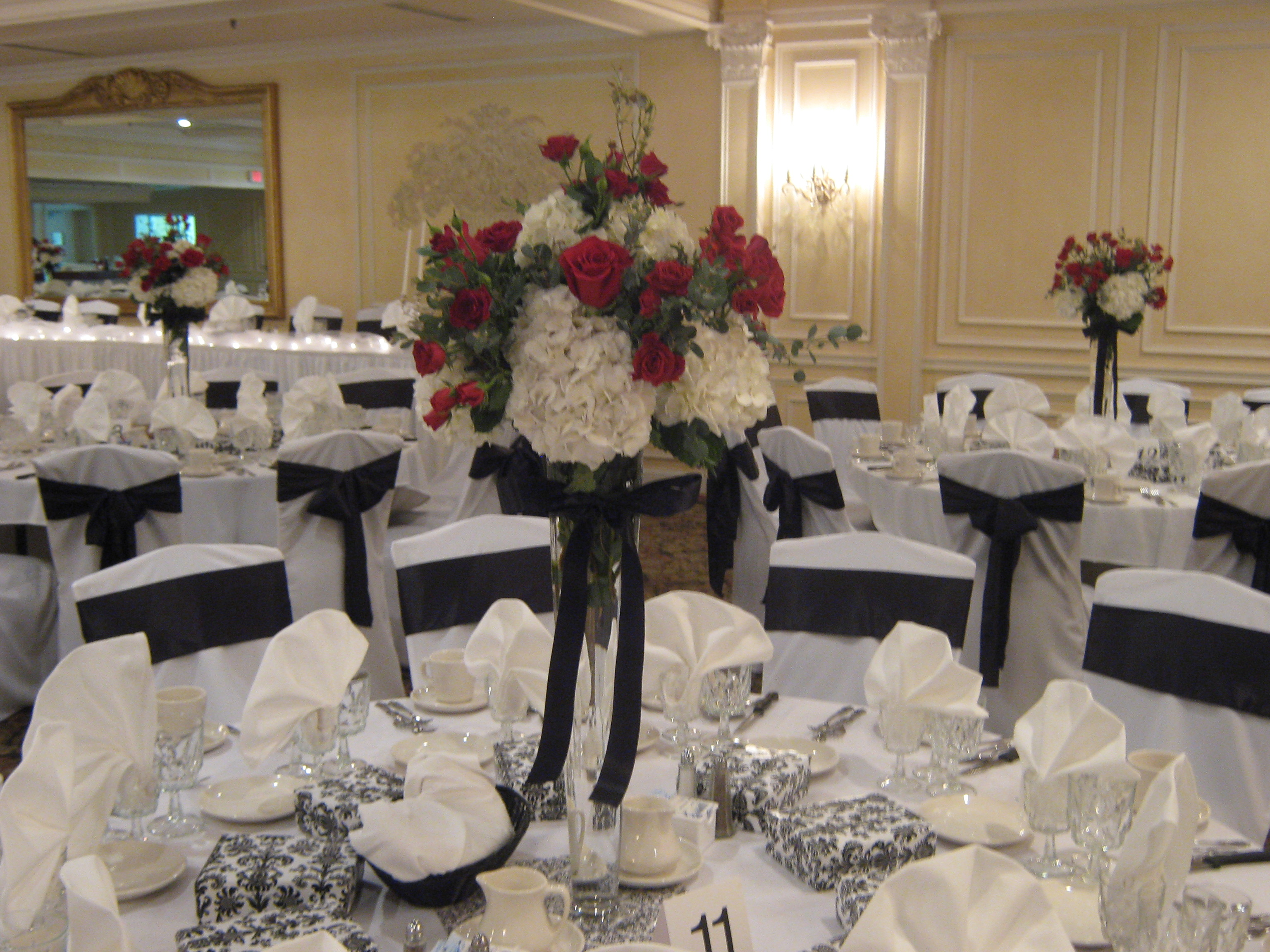 Red and black wedding flowers buffalo wedding event flowers by wedding flowers williamsville mightylinksfo