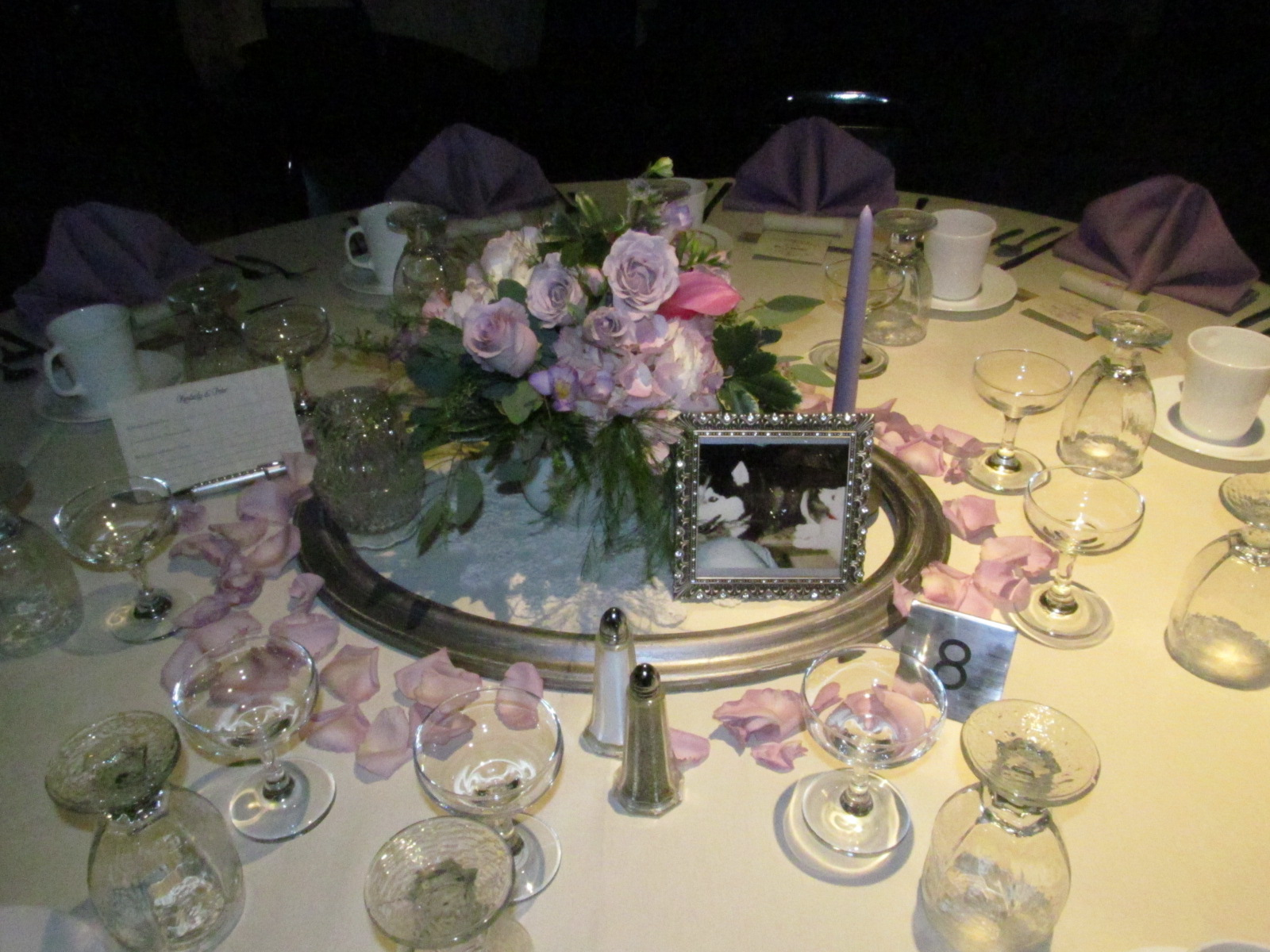 Wedding Reception Centerpieces With Picture Frames: Picture frame ...