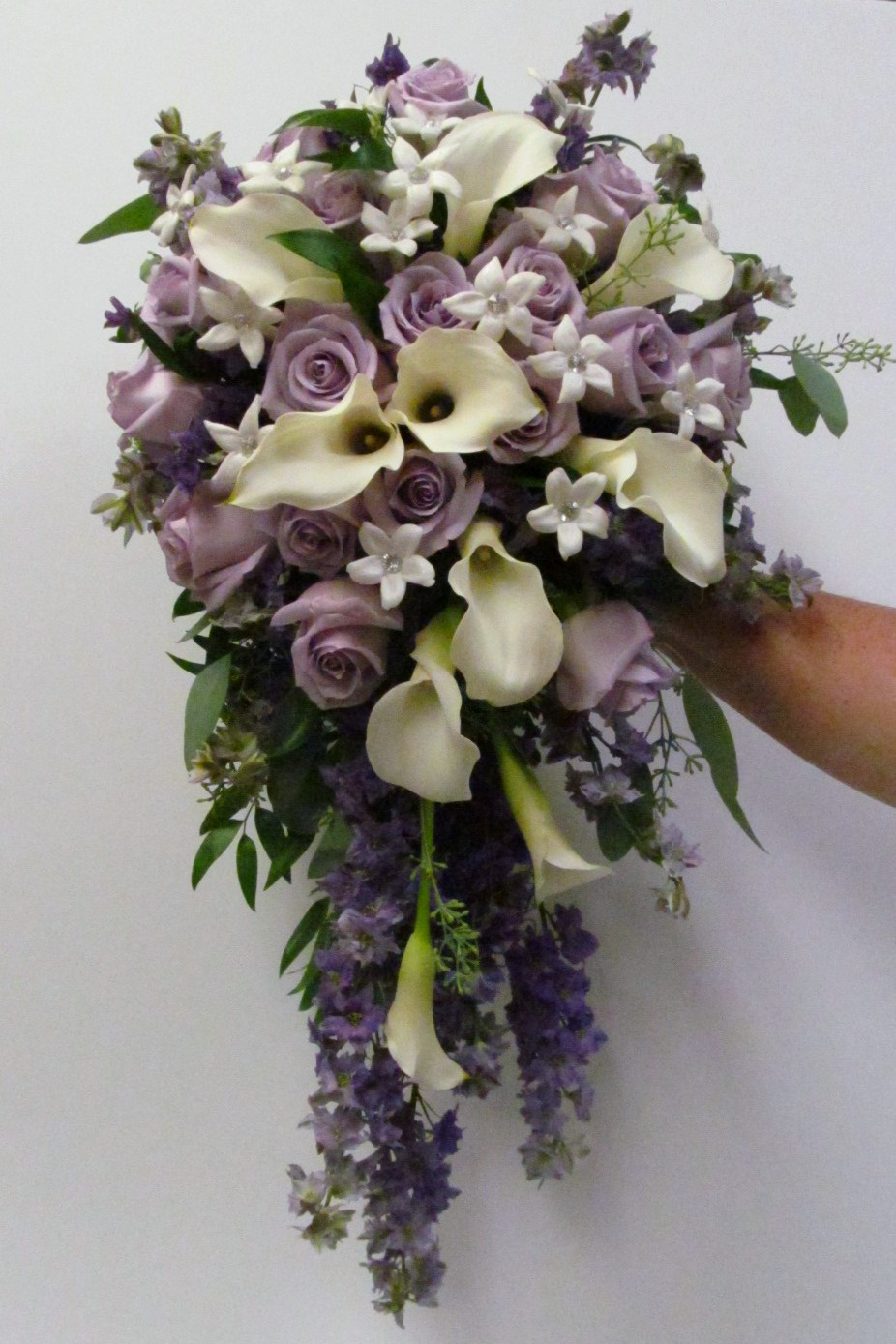 Wedding Flowers Blog: Hayley's wedding flowers, Ivory and ... |Lily Bridal Bouquets