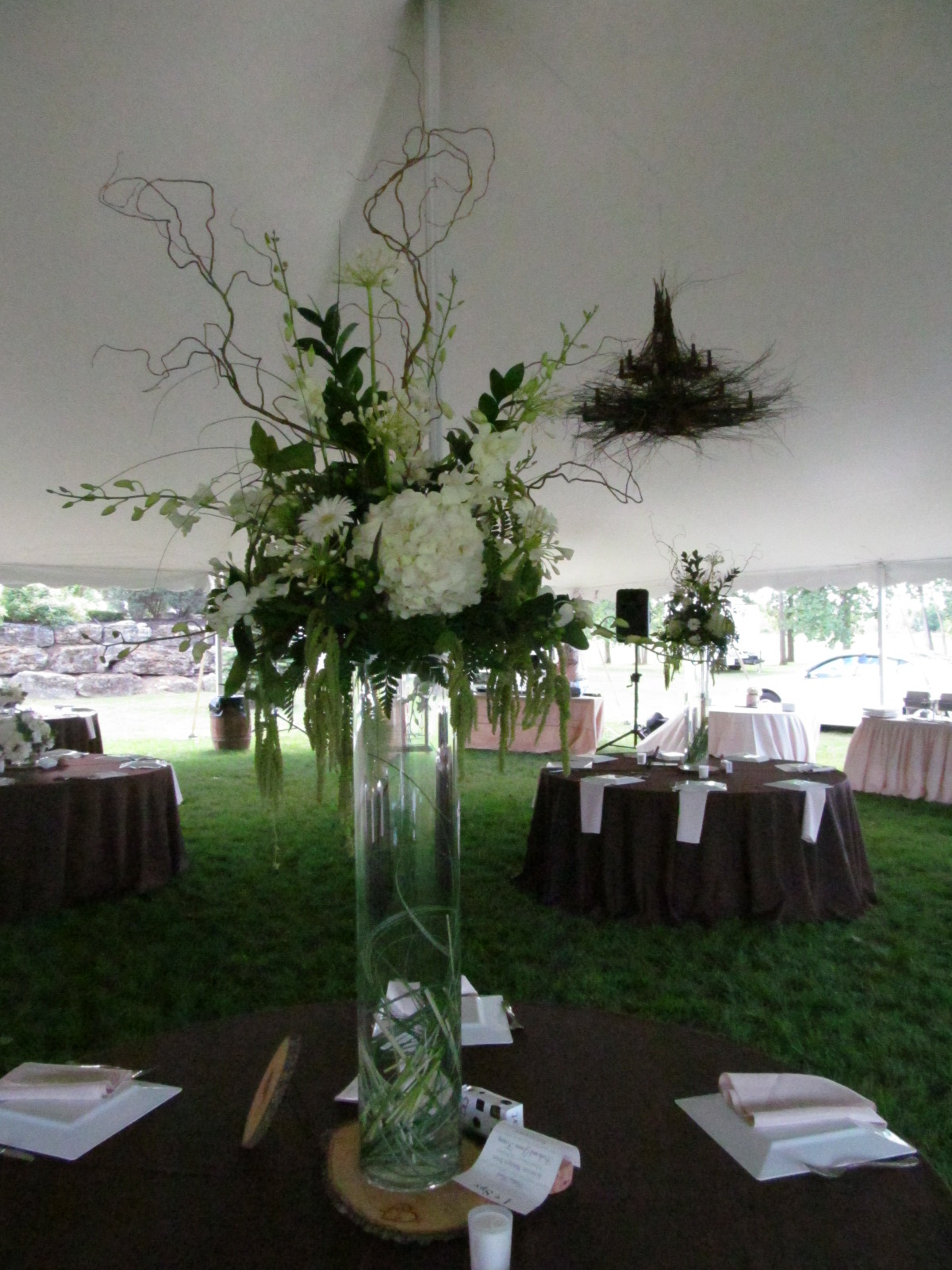Tall centerpieces wedding buffalo ny