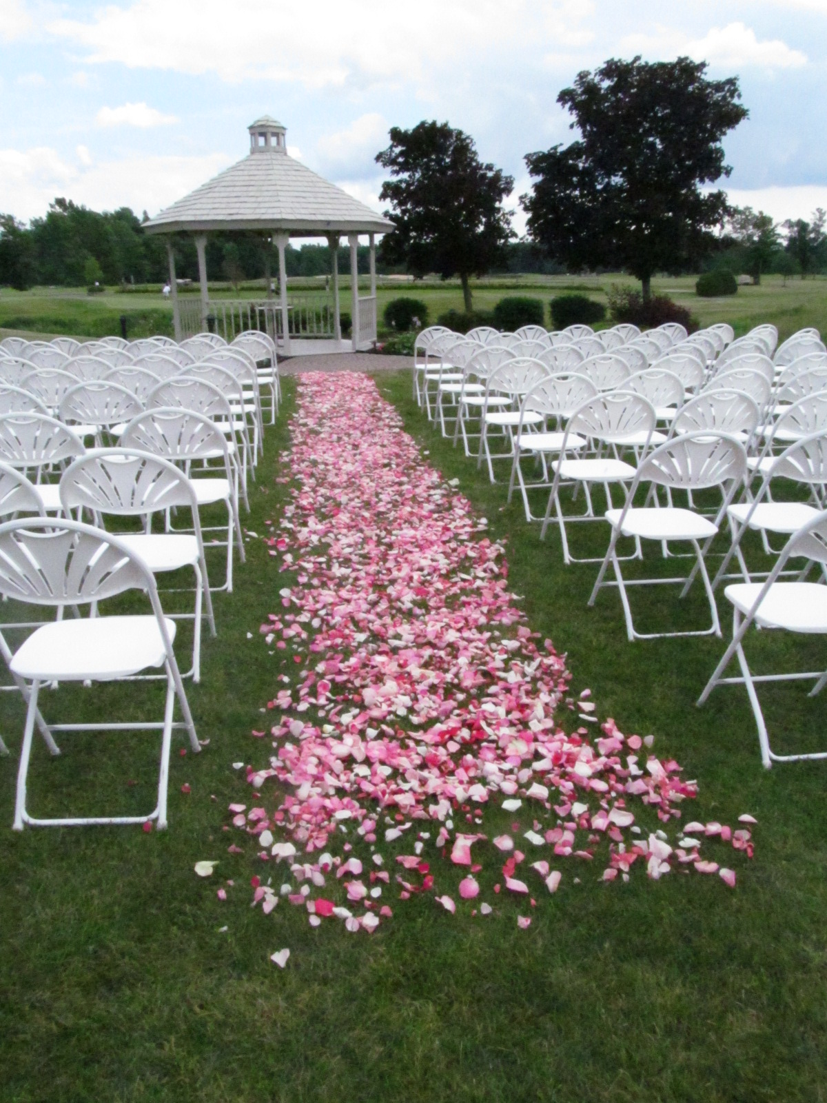 Rose petal aisle buffalo wedding event flowers by for Wedding walkway
