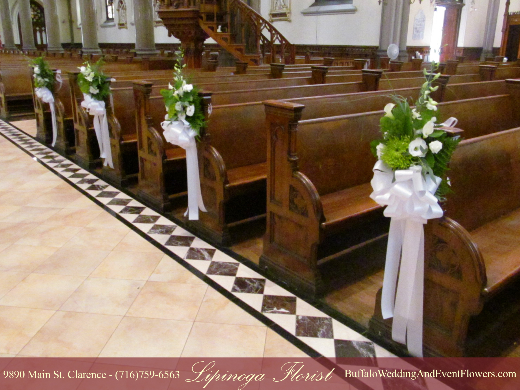 st louis roman catholic church buffalo buffalo wedding event flowers by lipinoga florist. Black Bedroom Furniture Sets. Home Design Ideas