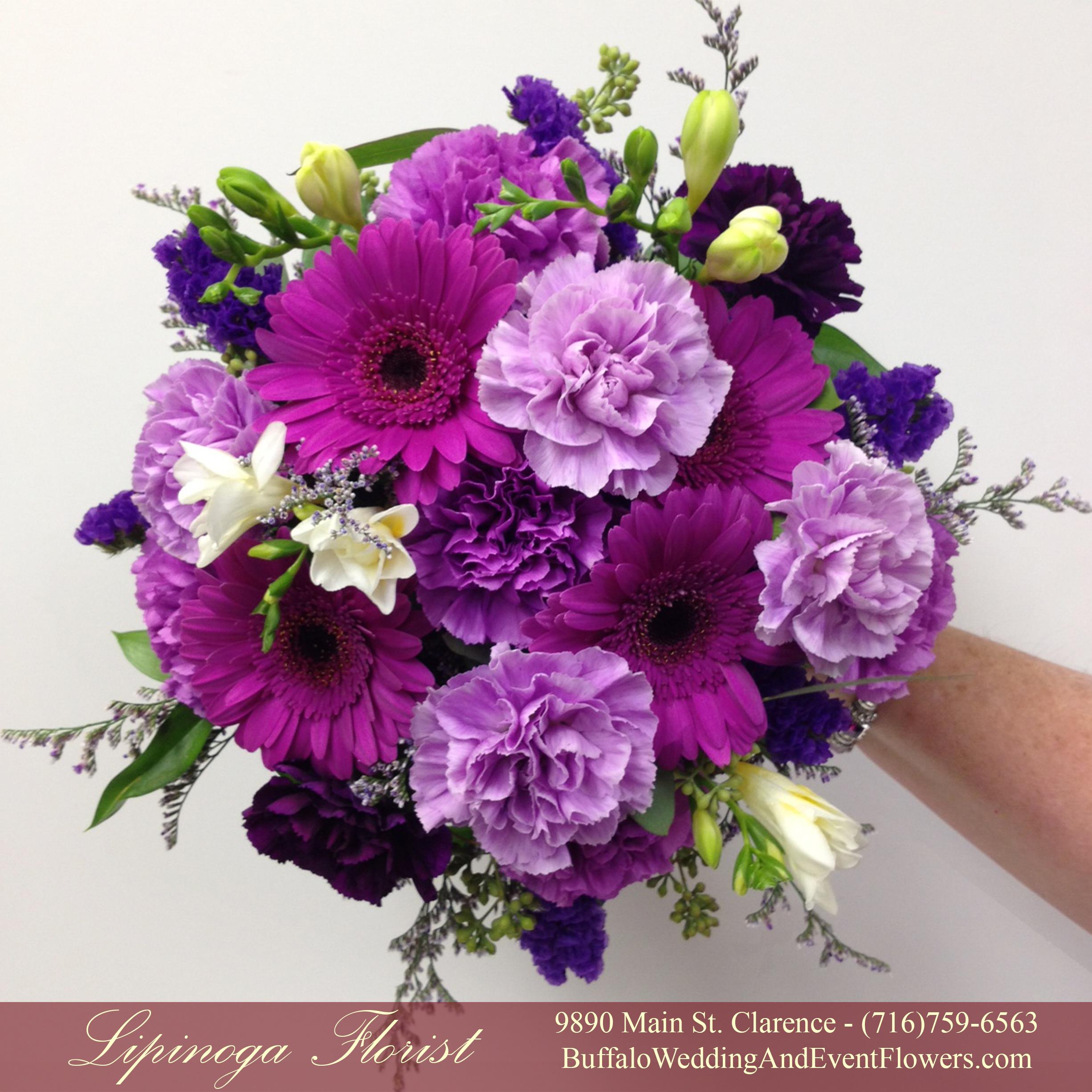 Purple buffalo wedding event flowers by lipinoga florist wedding florist williamsville izmirmasajfo