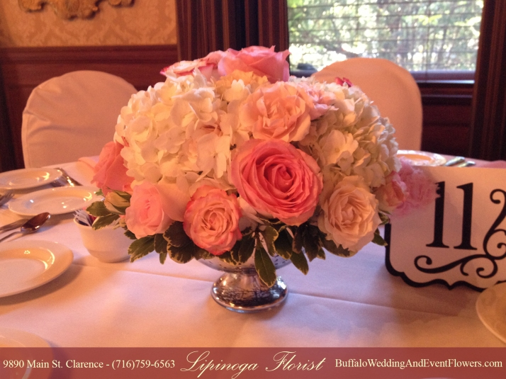 Wedding Flowers at The Butler Mansion in Buffalo NY