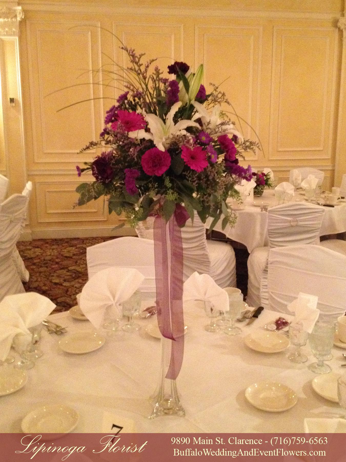Eiffel tower vase buffalo wedding event flowers by lipinoga wedding florist williamsville ny reviewsmspy