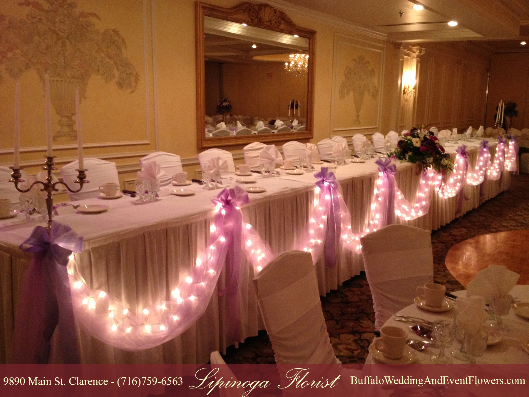 Tulle Draping With Lights Buffalo Wedding Amp Event