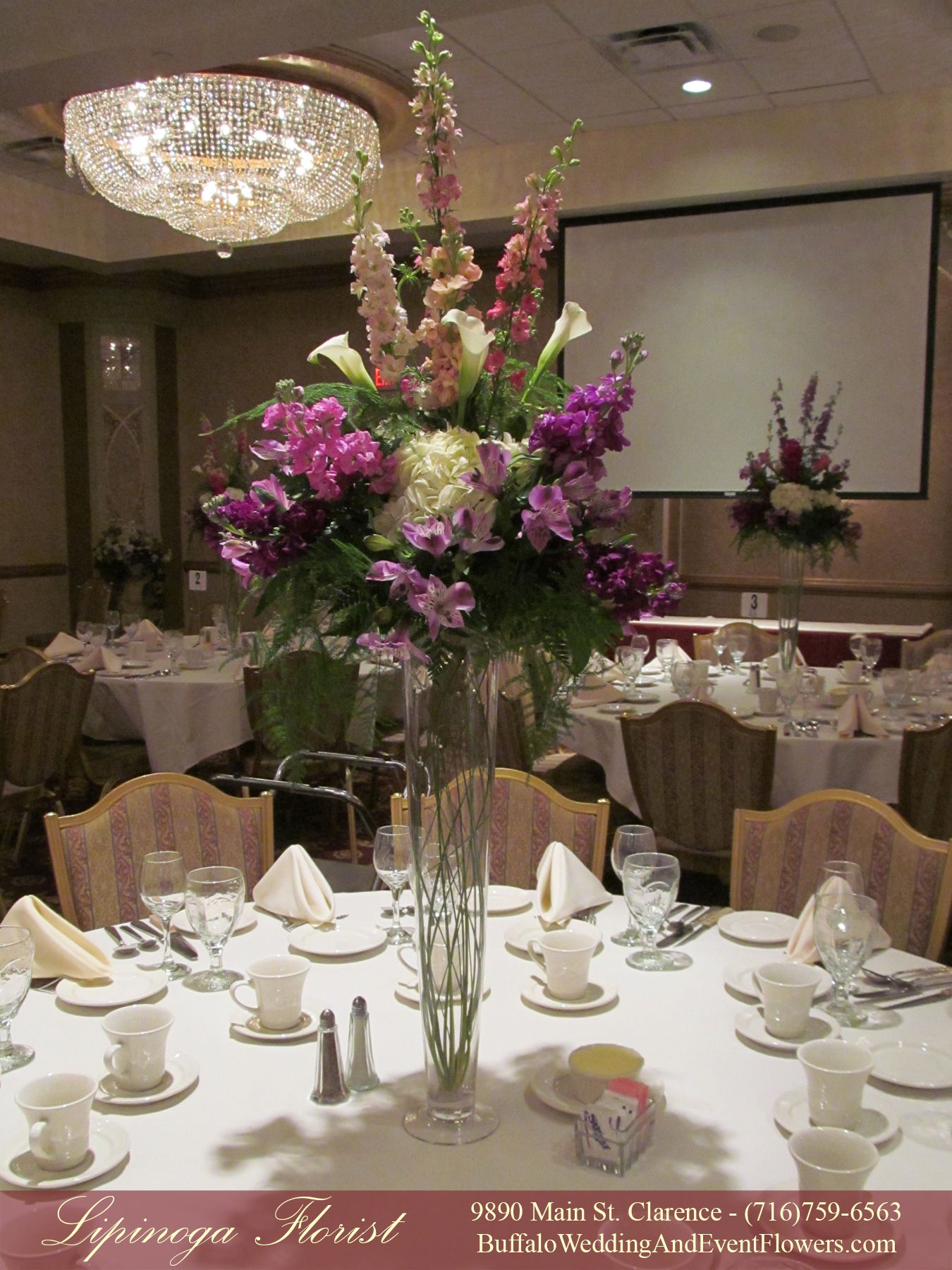 Tall rental vases buffalo ny wedding event