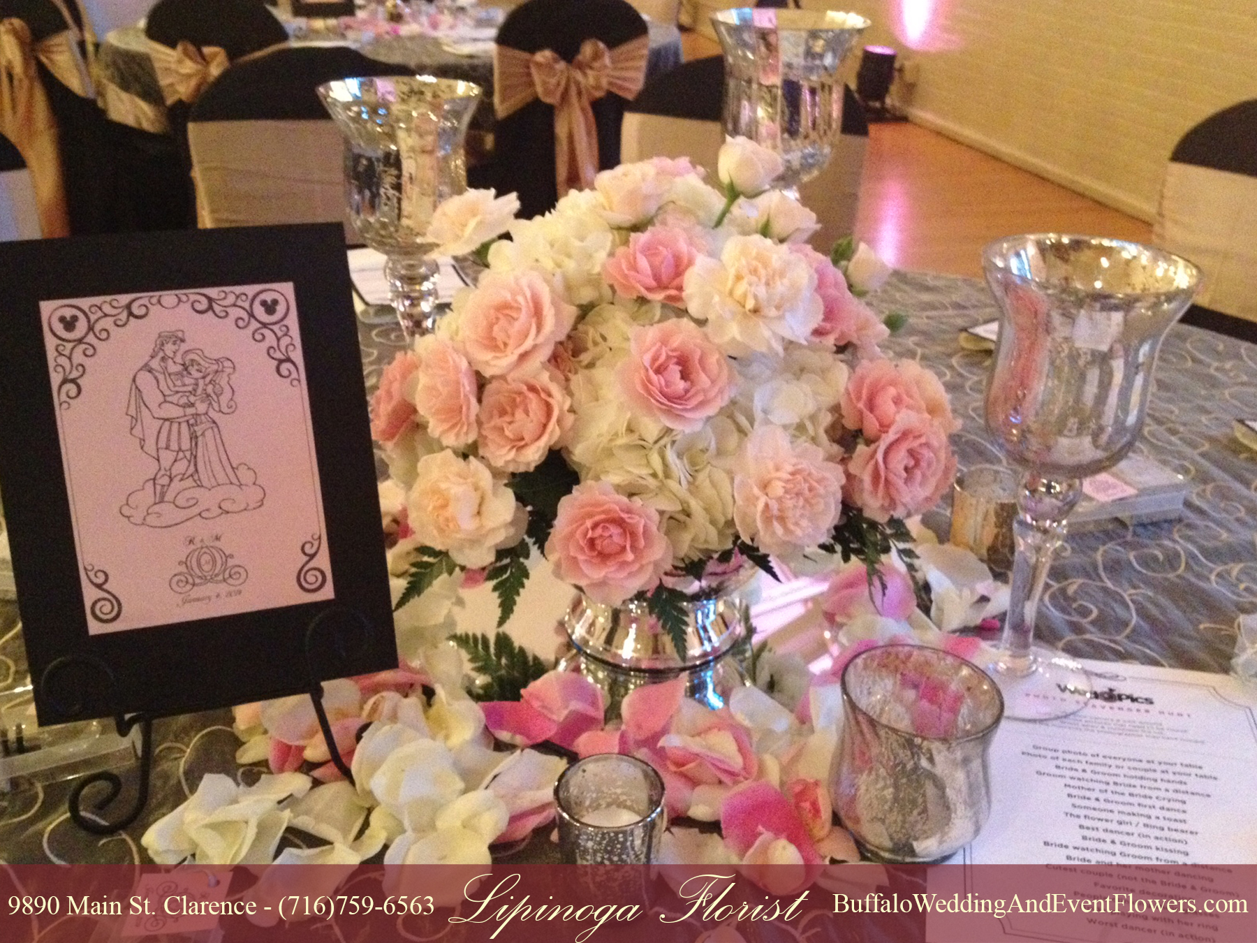 Escort Card Table Flowers Buffalo Wedding Event Flowers By