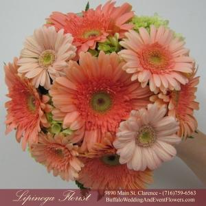Coral Bridal Bouquet by Lipinoga Florist Buffalo Wedding Flower Specialists (12)