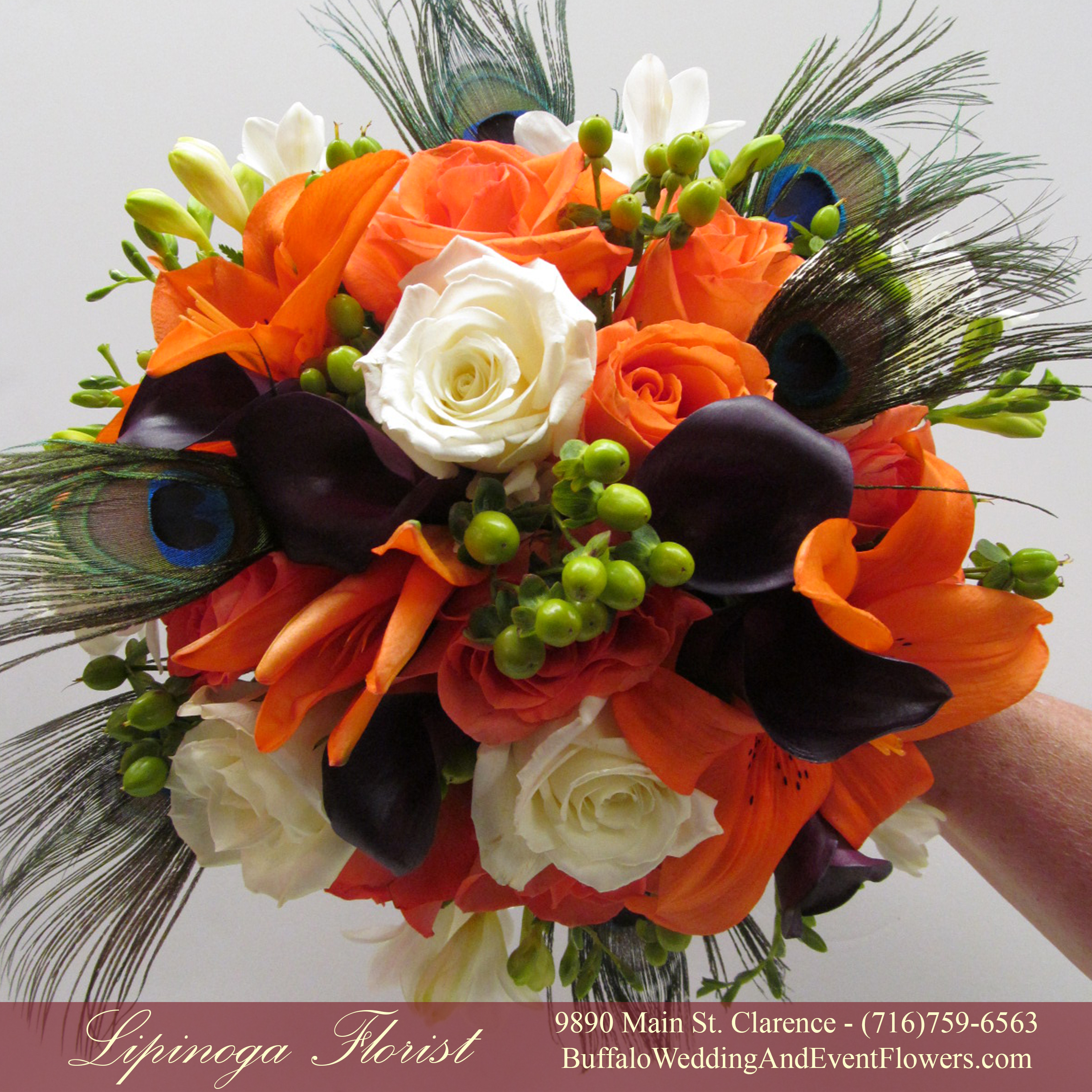 orange buffalo wedding event flowers by lipinoga florist. Black Bedroom Furniture Sets. Home Design Ideas