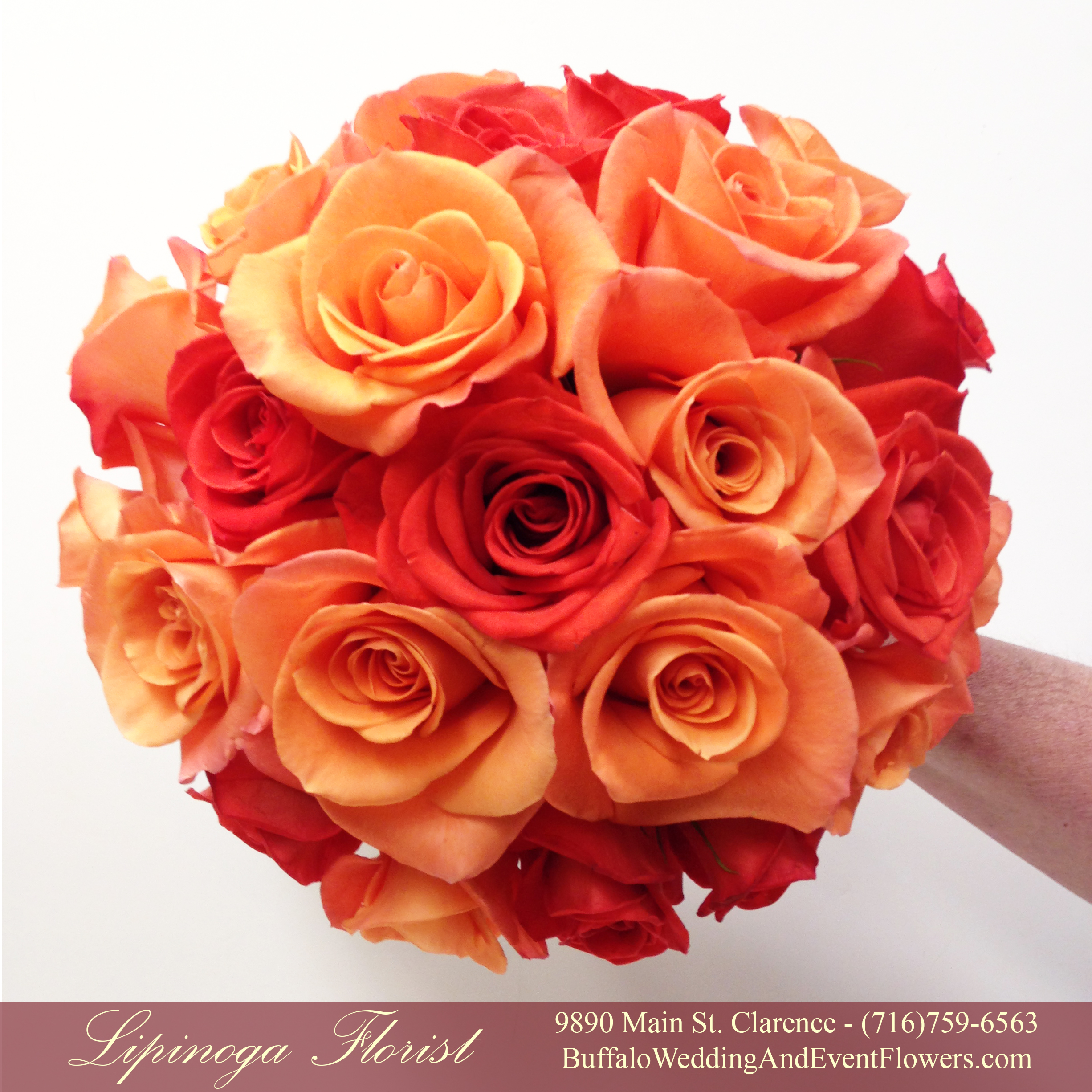 coral orange peach bridal bouquets buffalo wedding event flowers by lipinoga florist. Black Bedroom Furniture Sets. Home Design Ideas