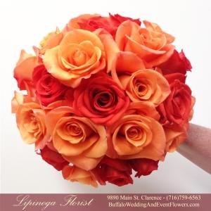Orange Bridal Bouquet by Lipinoga Florist Buffalo Wedding Flower Specialists (2)