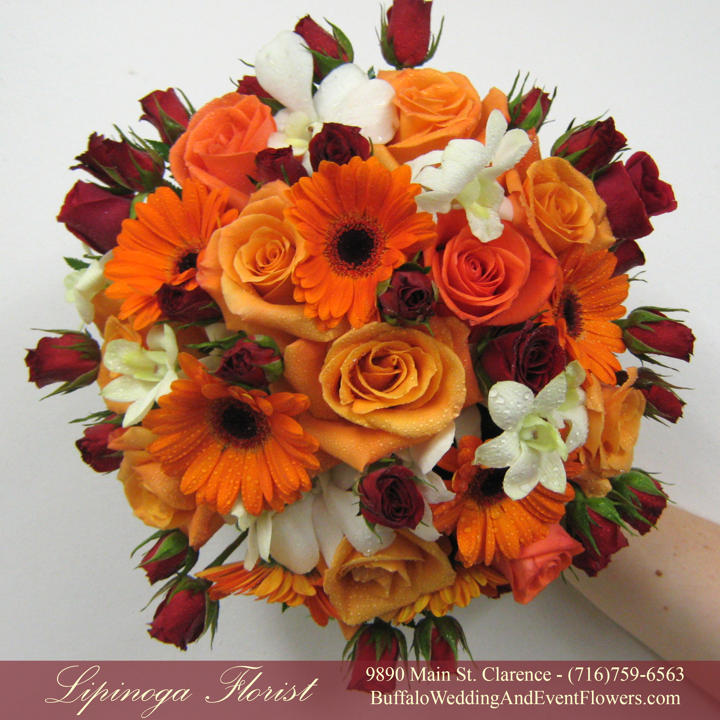 Fall Gerbera Daisy Bouquet Fall Bridal Bou...
