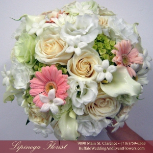 Peach Bridal Bouquet by Lipinoga Florist Buffalo Wedding Flower Specialists (13)