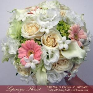 Peach Bridal Bouquet by Lipinoga Florist Buffalo Wedding Flower Specialists (13)