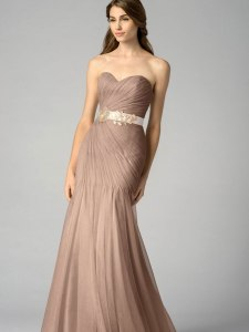 almond and blush pink bridesmaid bouquet flowers and dress  (2)