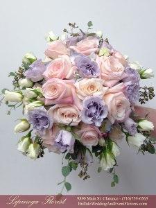 blush and lilac bridemaids bouquets buffalo ny lipinoga florist