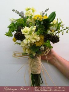 emerald and yellow wedding flowers buffalo ny lipinoga florist
