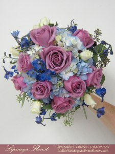 lavendar-and-blue-weddding-flowers lipinoga florist clarence ny