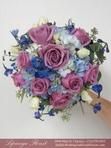 lavendar-and-blue-weddding-flowers lipinoga florist clarence ny