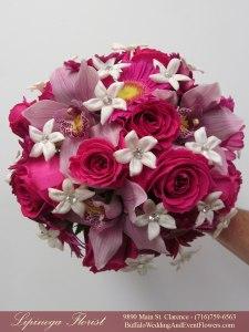 lilac and hot pink wedding flowers buffalo ny lipinoga florist