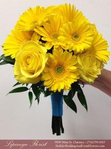 pool blue and yellow wedding flowers buffalo ny lipinoga florist