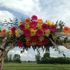 Buffalo Wedding Reception Flowers Rustic