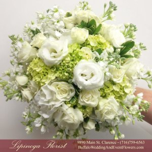 Lipinoga Florist of Clarence NY designed Bridal Bouquet for Real Buffalo Wedding