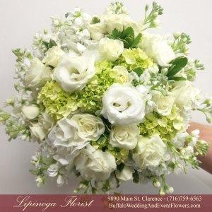 Lipinoga Florist of Clarence NY designed Bridal Bouquet for Real Buffalo Wedding